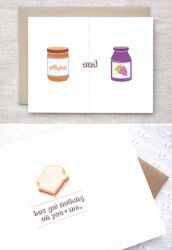 Peanut Butter and Jelly Card by happydappybits
