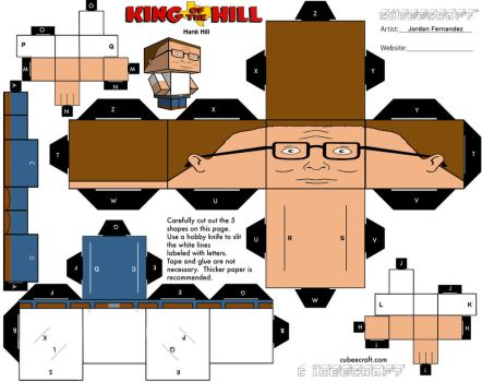 Hank Hill Cubee Template by jordof131