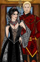 Commander Cullen and Inaniene Scipio by MacedonianMuse