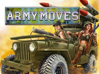 Army Moves. Close up view with logo by flipation