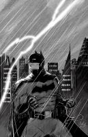 Batman in the rain by hey-its-LDR