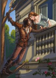 BBC'S The Musketeers d'Artagnan and Constance by rebelakemi