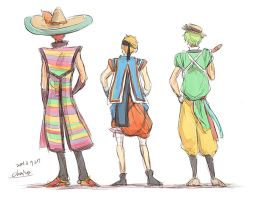 Back of Caballeros (rough) by chacckco
