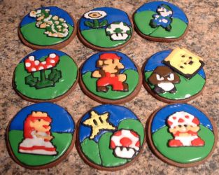 Super Mario Brothers Cookies by Afina79