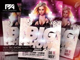 BIG SHOW Party Flyer Template by pawlowskiart