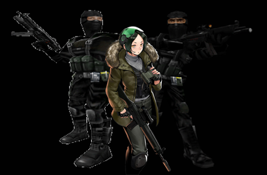 (Black Hound Black Ops) Stuarts, BO, and Louise by Rawflesh0615A