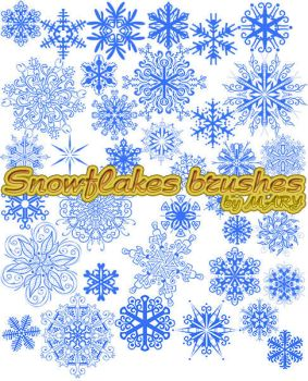 Snowflakes brushes by MARY1976