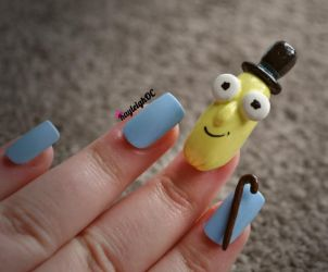 Rick and Morty Nail Art - Mr. Poopy Butthole 2 by KayleighOC