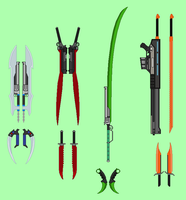 Team RPTR Weapons by RyuRyugami