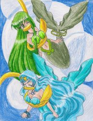 Bounded Hanon and Rina by LilacPhoenix
