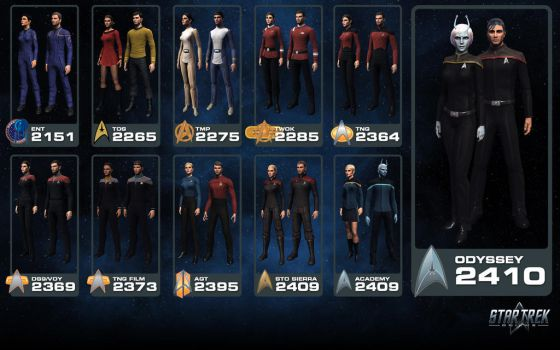 Star Trek Online - Starfleet Uniform Heritage by thomasthecat