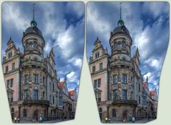 Schlossstrasse Dresden 3-D / CrossView / HDRaw by zour