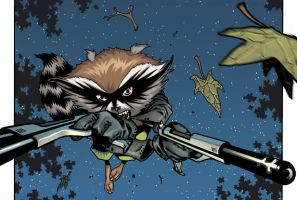 Rocket Raccoon back in action by timothygreenII