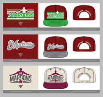 UP MAROONS snapback designs by Chili-icecream