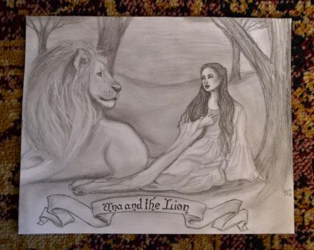 Una and the Lion by Sidhe-Etain