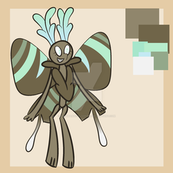 [CLOSED] Chocolate Mint Moth Adoptable - 75 point by ChibiMango-Flooferz