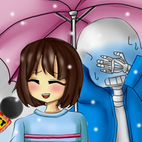 That Special Feeling - Frisk x Sans by MyaNyan