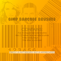 Barcode Brushes by arabian-princess