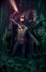 Batman In Darkness Dwells by JonLamart