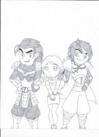 Megan and her bad boys by XSreiki772