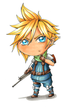 Cloud Strife - Crisis Core [Chibi] by AkaiYuyake