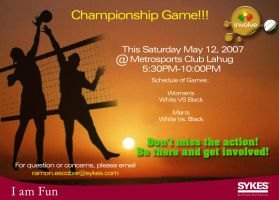 Volleyball Tourment Tarp by zerobriant
