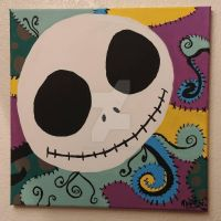 Jack and Sally 14x14 by wolf-girl87