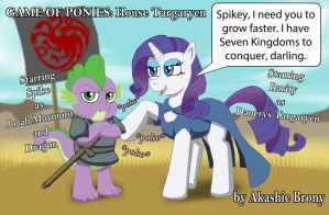 Rarity Targaryen and Spike Mormont by Sword-of-Akasha