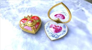 Sailor Moon Heart Compact Brooch open #2 by digitalAuge
