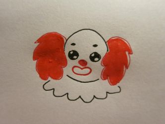 Inktober Clown by Elleiancole