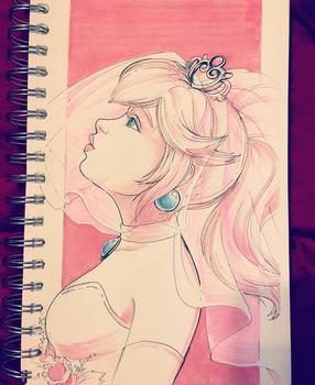 Inktober Day #26: Here Comes the Bride by hollarity