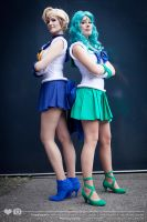 Sailor Uranus and Sailor Neptune by Rinaca-Cosplay