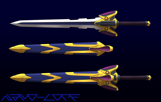 Pick your Color-Sword Lineart coloring by Nano-Core
