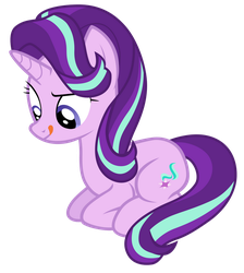 Starlight Glimmer sewing torn tapestry by Tardifice