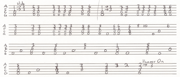 While My Guitar Gently Weeps intro tabs by ChuckinBrony
