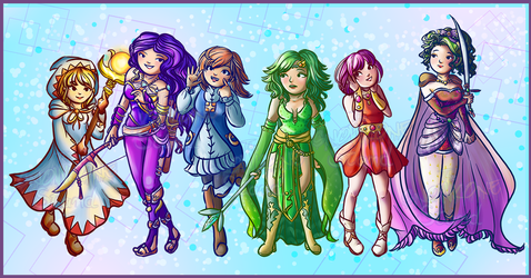 Final Fantasy Heroines: First Generation by kellieabomination
