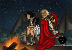 Achilles and Penthesileia by TheDutchesse