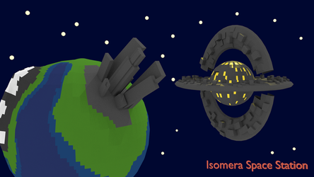 Blender: Low Poly Space Station by Gindew