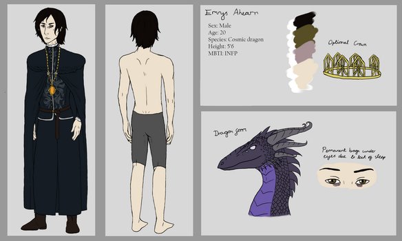 Emrys Ahearn reference sheet by AMEcco