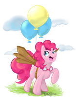 Pinkie Fly! by Rabbitasaur