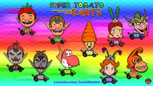 Super Tomato Carts by AnutDraws