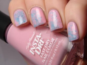 Double Saran Wrap Nails by Animalluver1985