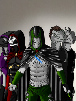 The Argonian Crew -Digital- by OrobasBlackfang