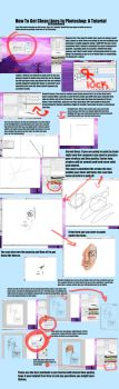 How To Make Clean Line Art in Photoshop Tutorial by 6ideon