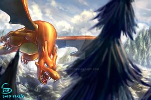 Charizard flying by 000SanS000