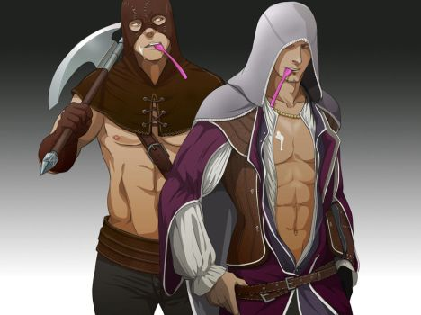 Executioner and  Hunter's YN by doubleleaf