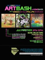 artbash july flyer by penpointred