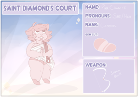 Pink Calcite (Saint Diamond's Court Application) by ClericlyDepressed