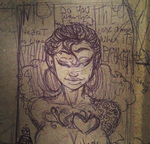 Save Rock and Roll rough mini sketch by RaeQuinnArt