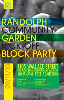 Community Garden Party Poster by MrBadger